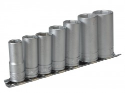 Teng M3807 Socket Clip Rail Set of 7 Metric 3/8in Drive