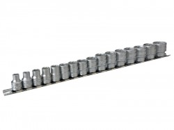 Teng M3816 Socket Clip Rail Set of 16 Metric 3/8in Drive