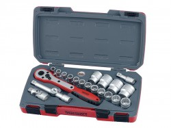 Teng T1221 Socket Set of 21 Metric 1/2in Drive