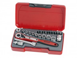 Teng T1424 Socket Set of 24 Metric 1/4in Drive