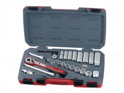 Teng T3835AF Socket Set of 35 A/F 3/8in Drive