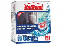 Unibond Small Moisture Absorber Power Tab Refill Pack of 2