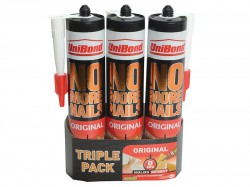Unibond No More Nails Interior Cartridge Triple Pack