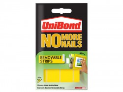 Unibond No More Nails Removable Pads 19mm x 40mm (Pack of 10)