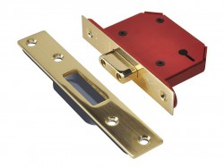 UNION StrongBOLT 2103S 3 Lever Mortice Deadlock Polished Brass 81mm 3in Visi