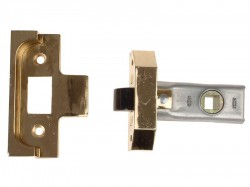 UNION Rebated Tubular Mortice Latch 2650 Electro Brass 63mm 2.5in