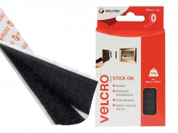 VELCRO® Brand VELCRO® Brand Stick On Tape 20mm x 1m Black