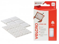 VELCRO® Brand VELCRO® Brand Stick On Squares 25mm White Pack of 24
