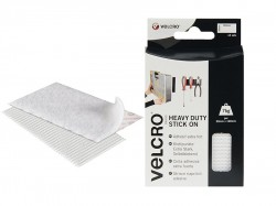 VELCRO® Brand VELCRO® Brand Heavy-Duty Stick On Strips (2) 50 x100mm White