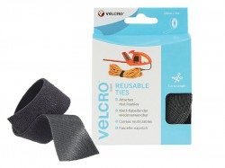 VELCRO® Brand ONE-WRAP® Reusable Ties 30mm x 5m Black