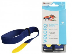 VELCRO® Brand VELCRO® Brand Adjustable Straps (2) 25mm x 46cm Blue