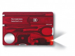 Victorinox Swiss Card Lite Translucent Red Blister Pack