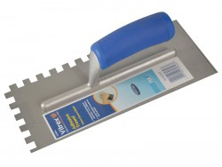 Vitrex Notched Adhesive Trowel Square 10mm Soft Grip Handle 11in x 4.1/2in