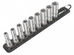 Wera Belt B Deep 1 Socket Set of 9 Metric 3/8in Drive