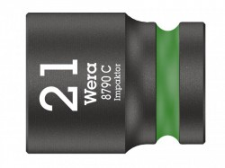 Wera 8790 C Impaktor Socket 1/2in Drive 21mm
