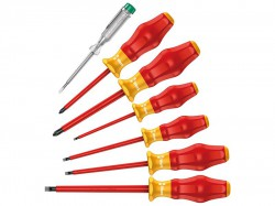 Wera Kraftform Comfort VDE Screwdriver Set of 7 SL / PZ