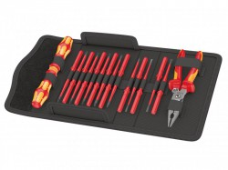 Wera Kraftform Kompakt VDE Extra Slim 1 Screwdriver Set, 17 Piece SL/PH/PZ/PZS/TX