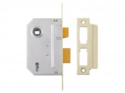 Yale Locks PM320 3 Lever Mortice Sashlock Polished Brass 65mm 2.5in
