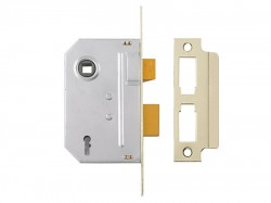 Yale Locks PM320 3 Lever Mortice Sashlock Polished Brass 79mm 3in