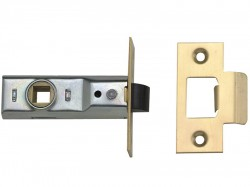 Yale Locks M888 Tubular Mortice Latch 64mm 2.5 in Polished Brass Pack of 3