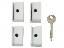 Yale Locks 8K109 Window Stop White Pack of 4 Visi