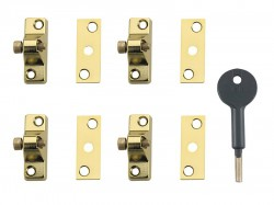 Yale Locks 8K118 Economy Window Lock Electro Brass Finish Pack of 4 Visi