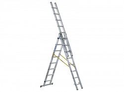 Zarges D-Rung Combination Ladder 3-Part 3 x 8 Rungs