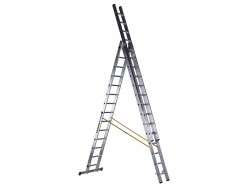 Zarges D-Rung Combination Ladder 3-Part 3 x 14 Rungs