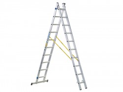 Zarges D-Rung Combination Ladder 2-Part 2 x 14 Rungs