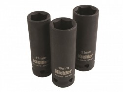 Kielder KWT-126-01 1/2in Drive Deep Impact Socket Set 3 Piece