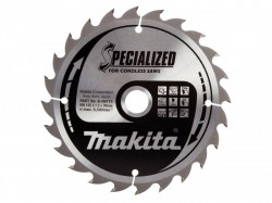 Makita B-09173 Specialized Wood Blade for Cordless Saws 165 x 20mm x 24T