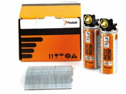 Paslode 64mm IM65 Galvanised Straight Brads 2000 2 x Fuel Cells