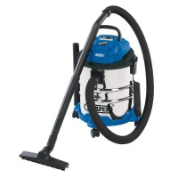 Draper 20L Wet and Dry Vacuum Cleaner with Stainless Steel Tank (1250W)