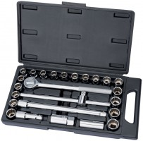 "DRAPER 1/2"" Sq. Dr. MM/AF Combined Socket Set (25 Piece)"