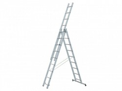 Zarges Light Trade Combination Ladder 3-Part 3 x 11 Rungs